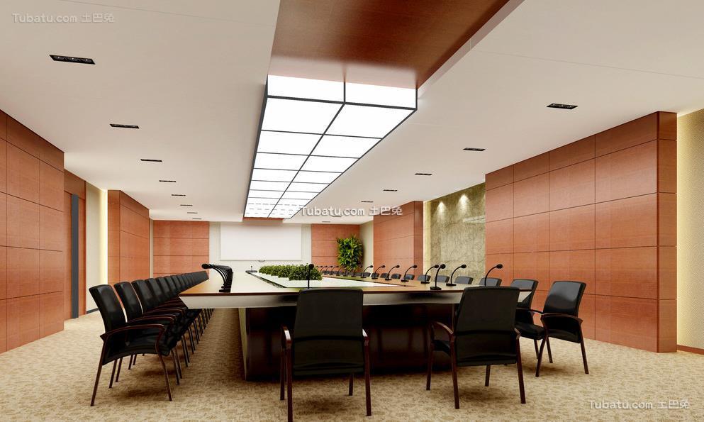 会议室布置装修设计效果图2015