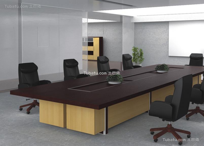 2018办公室会议桌装饰设计效果图片欣赏