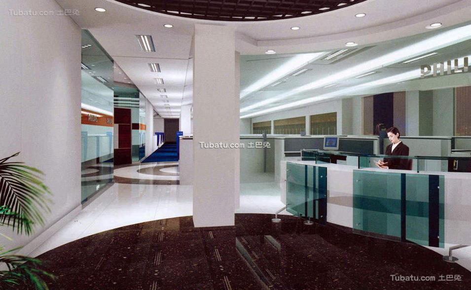 2018办公室大厅装饰设计效果图片欣赏