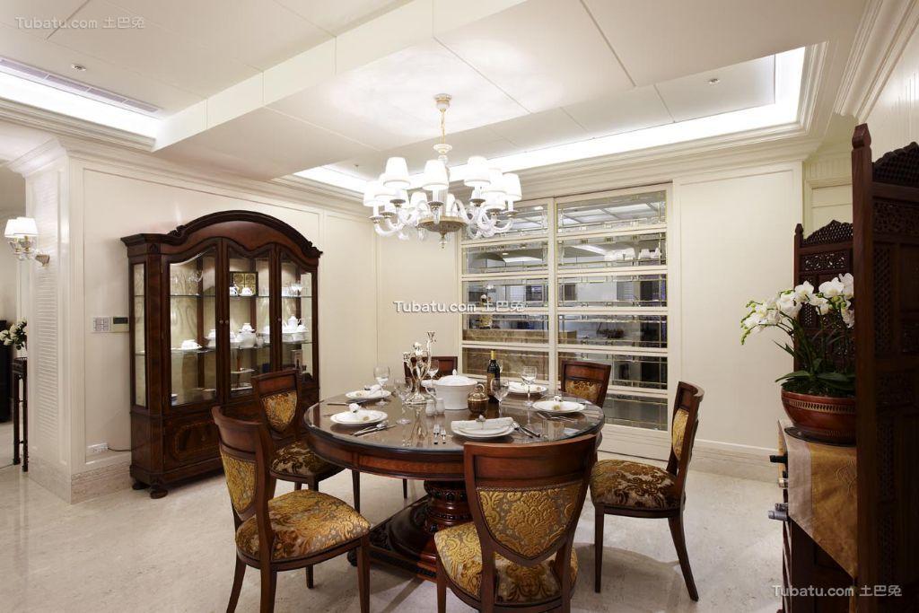 淡雅美式风格餐厅家居设计装修
