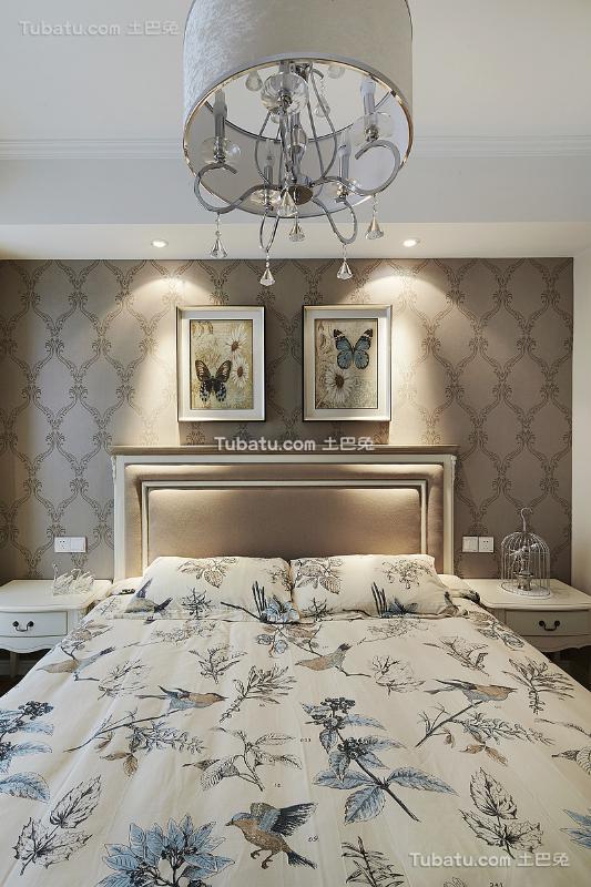 欧式浪漫卧室吊顶家居设计装修效果图