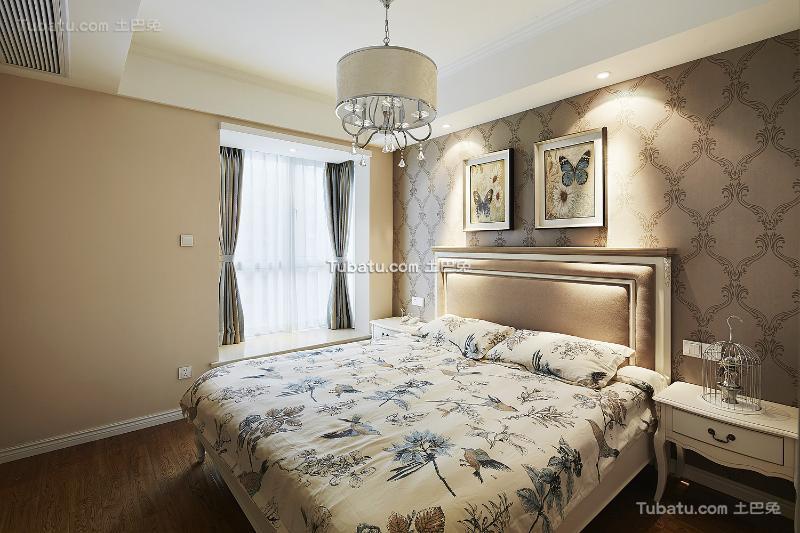欧式浪漫卧室设计装修效果图