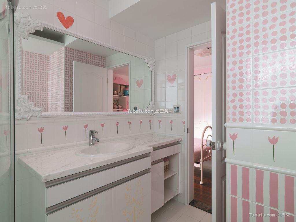 英伦欧式别墅室内卫生间设计效果图片