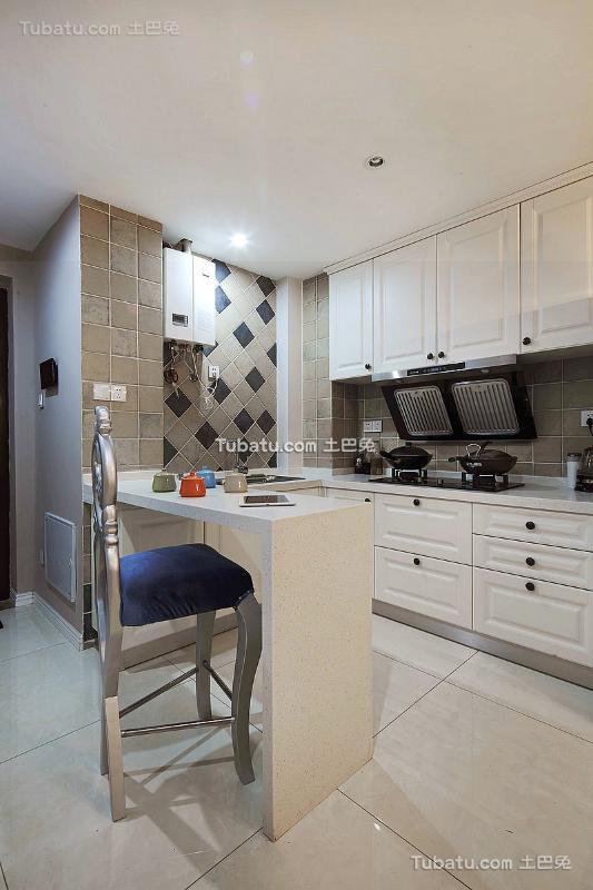 欧式轻奢华厨房家居设计装修