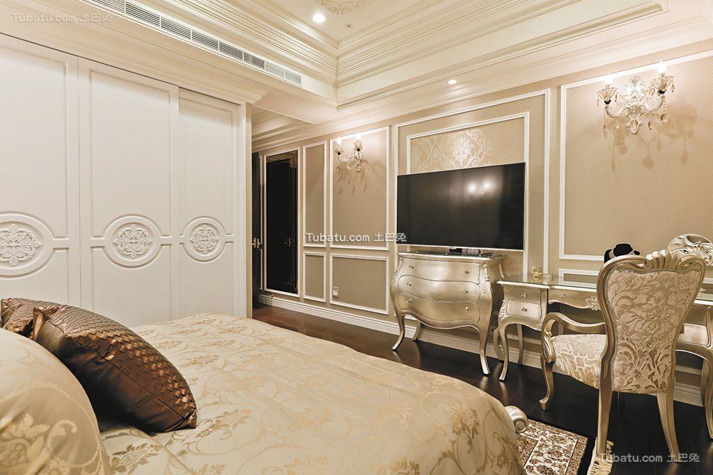 欧式奢华宫廷风卧室局部装饰设计装修