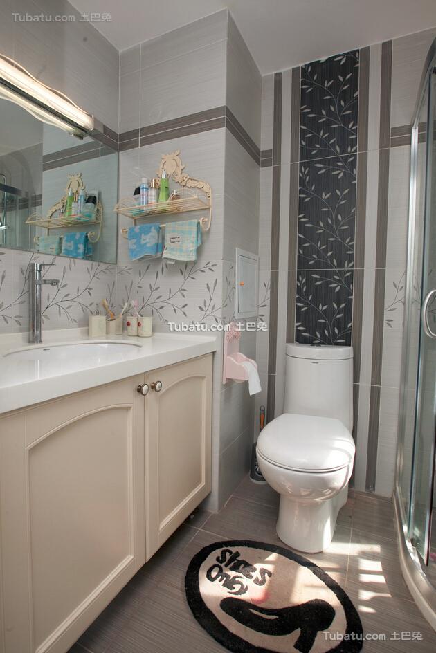 89方地中海两居室卫生间装修案例