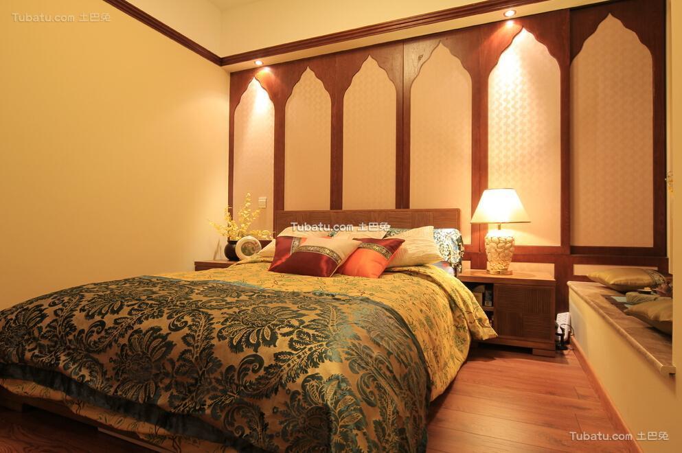 东南亚风格卧室家居设计效果图