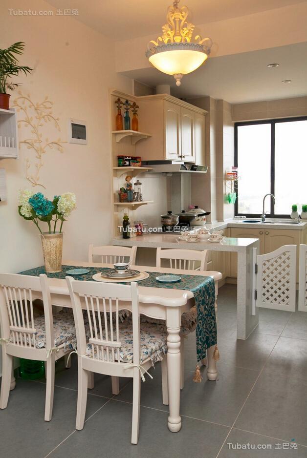 地中海两居室餐厅装修案例