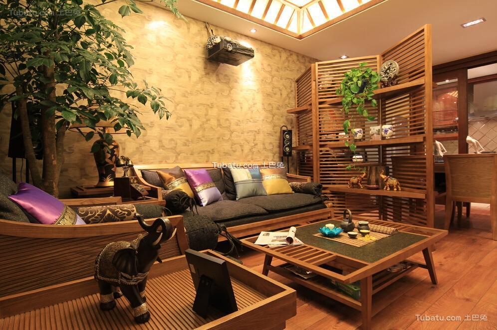 70平米东南亚两居室装修效果图