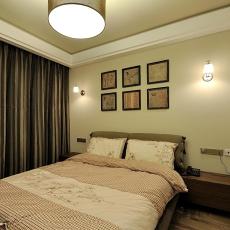 100平美式两居室卧室装修案例
