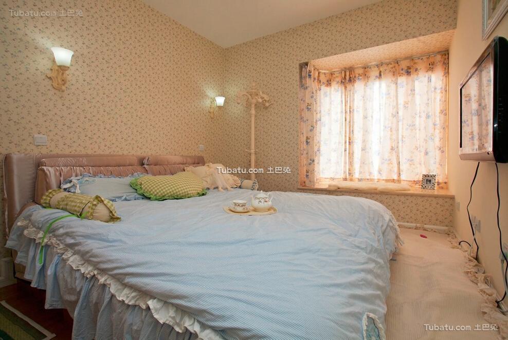 地中海两居室卧室装修案例