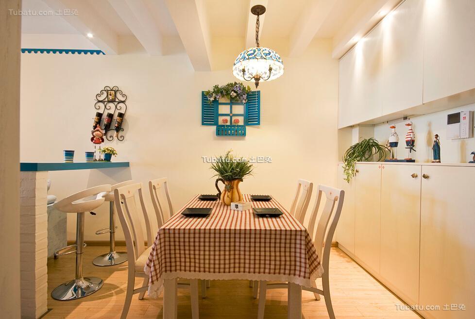 清新可爱地中海风格餐厅设计装修