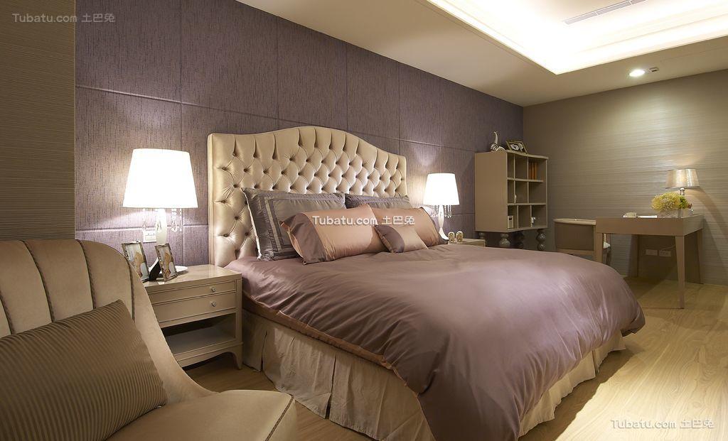 现代轻奢华优雅家居卧室装修效果图