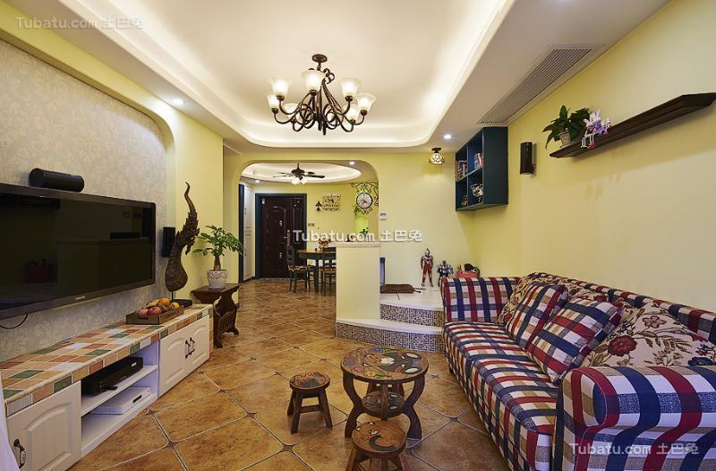 地中海风格创意两居室装修效果图