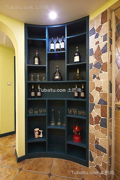 地中海风格精美酒柜设计图
