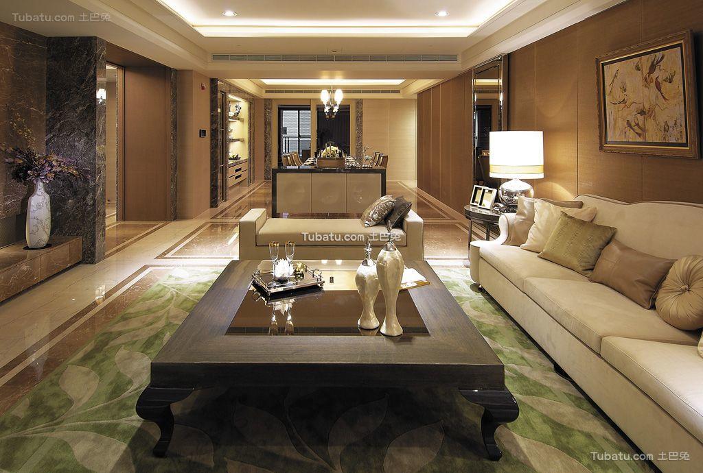 现代轻奢华优雅三居室设计装修效果图