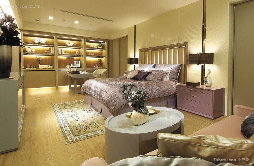 现代轻奢华优雅卧室整体设计装修