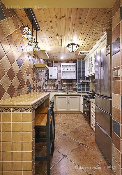 地中海精致厨房装修设计图