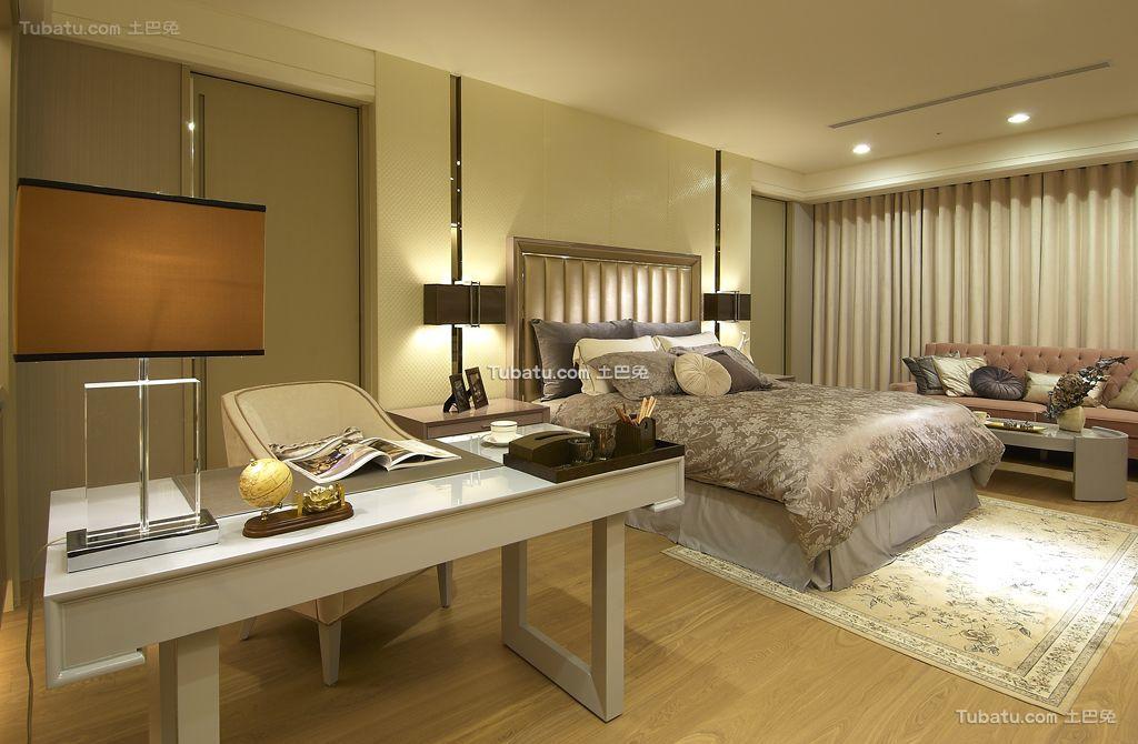 现代轻奢华优雅家居卧室设计装修