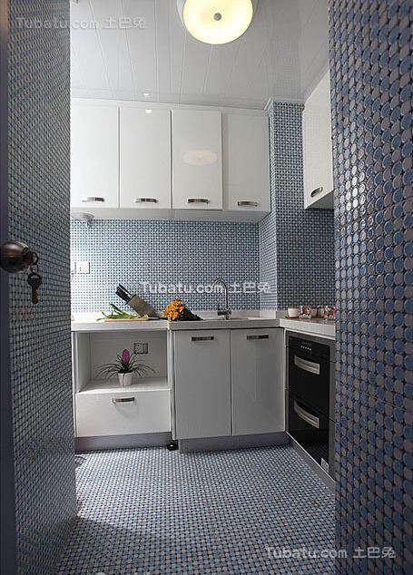 简约优雅厨房局部设计装修效果图