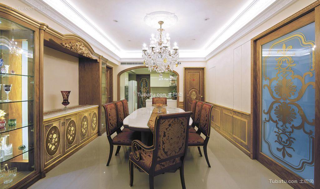 东南亚风豪华餐厅设计图大全2016