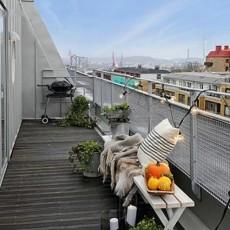 北欧风格6平米阳台效果图