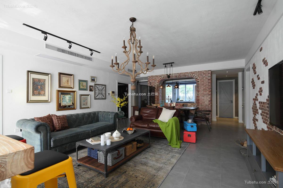 美式风格三居室创意设计图2018