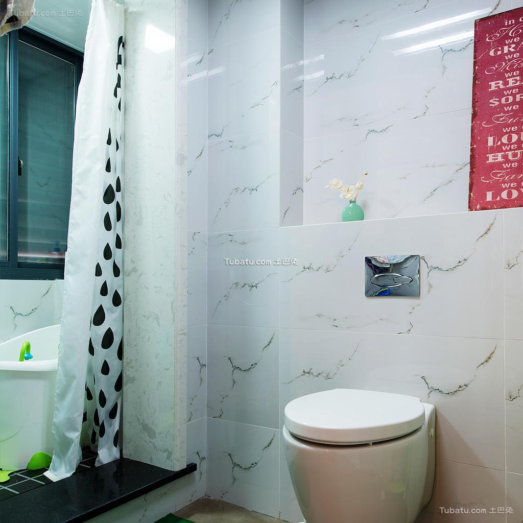 宜家装修设计卫生间浴帘图片