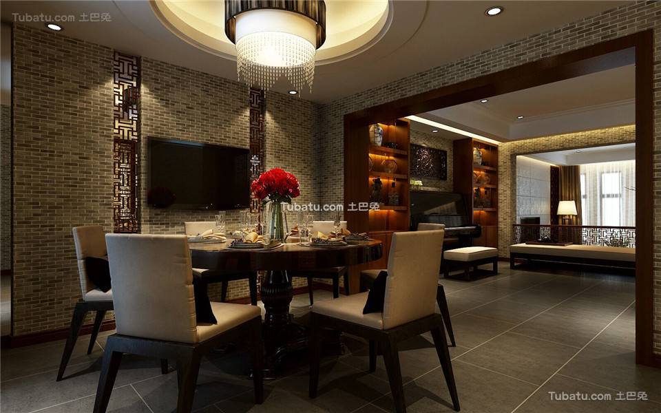 中式家居餐厅装修案例