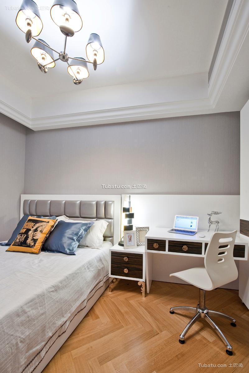 欧式书房卧室套房装修效果图