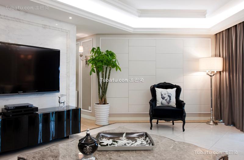 欧式风格四居室家居装修案例