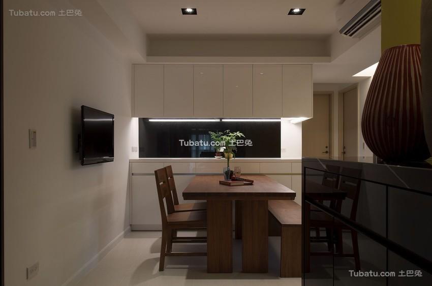 2015现代家装餐厅电视背景墙效果图
