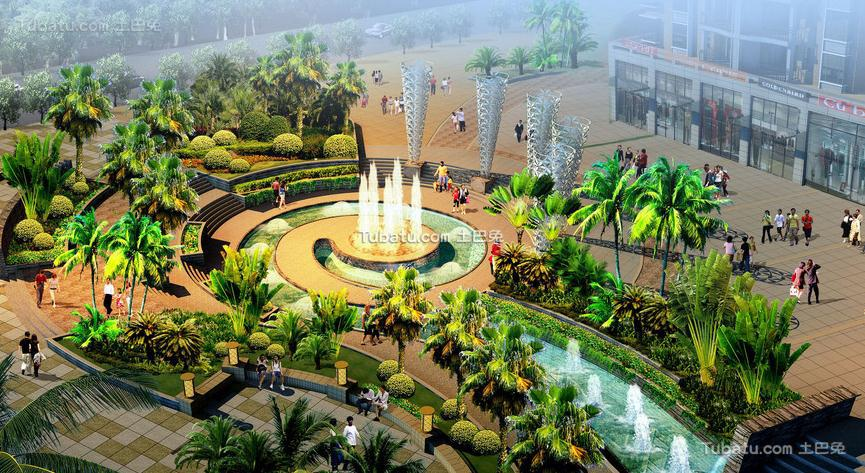 喷泉广场设计图片