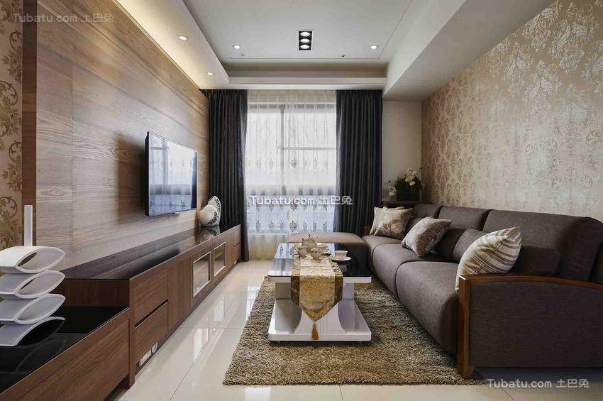 现代休闲家居三居室装修案例
