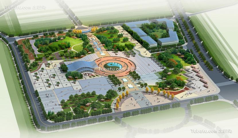 生态广场设计图片
