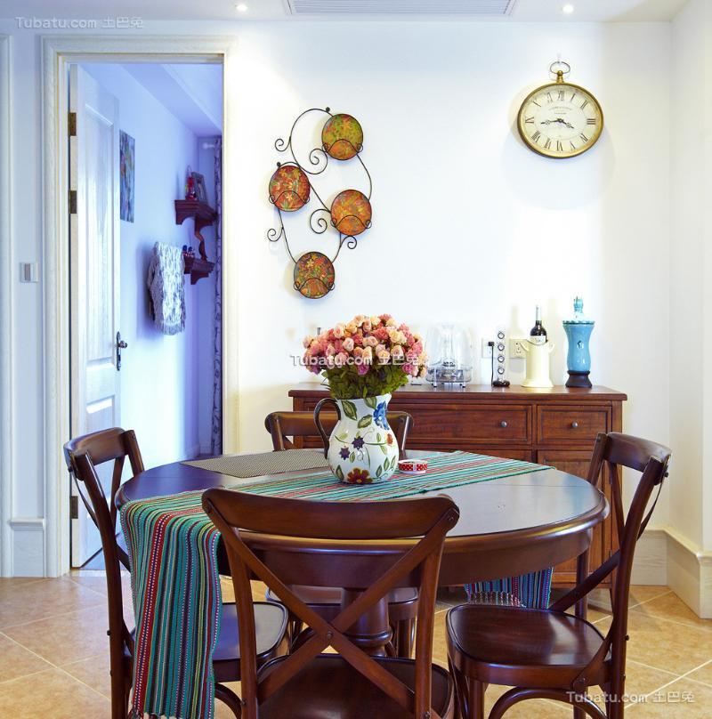 地中海风格餐桌椅