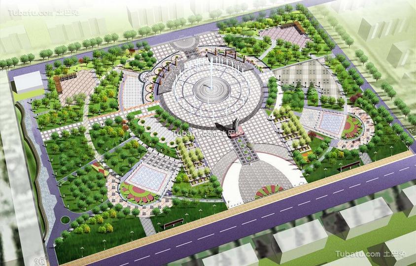 市民广场设计图片