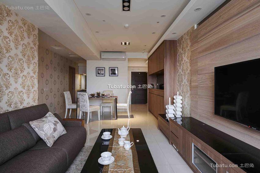 现代休闲家居客厅局部装修案例