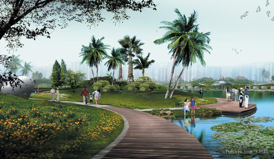 热带广场设计图片
