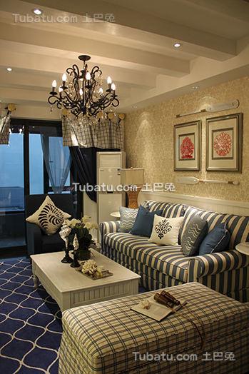 地中海风格客厅效果图装修