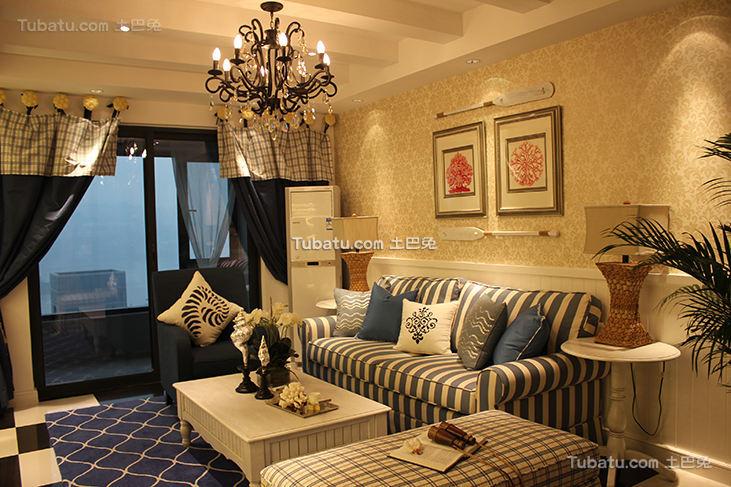 温馨地中海风格两居室装修