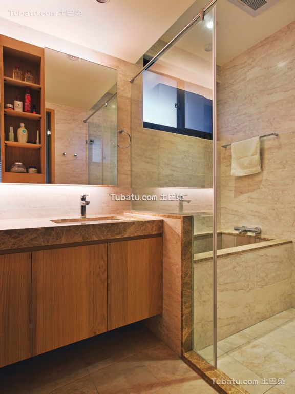 现代简约设计卫生间图欣赏大全