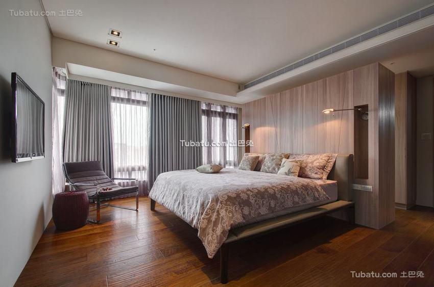 现代三居室内卧室设计图片