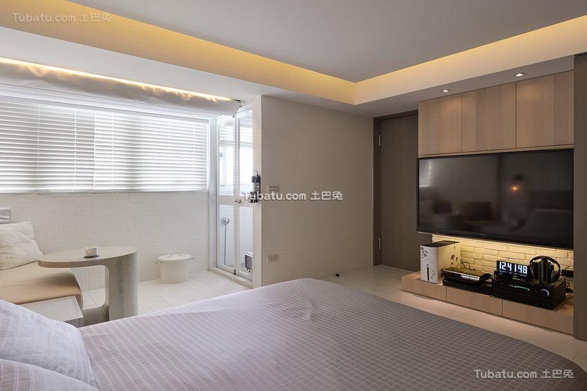 美式卧室卫生间一体设计