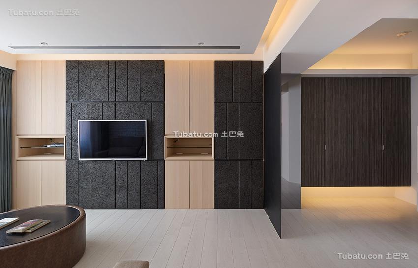 美式电视背景墙的效果图