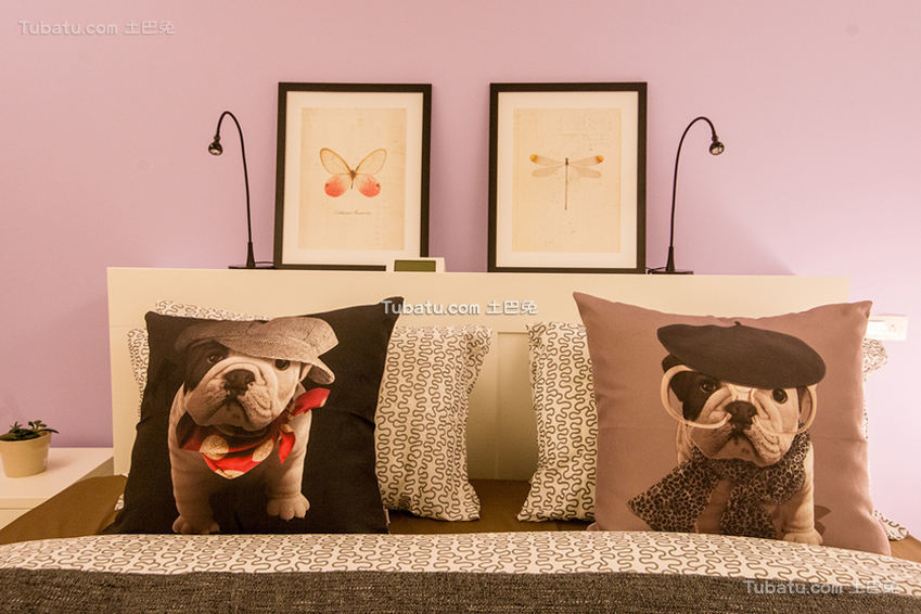 简约风格床头背景墙设计