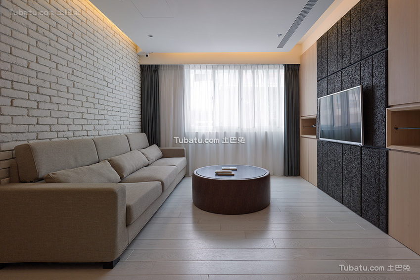美式风二居室装修效果图