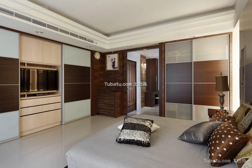 现代休闲卧室装修展示