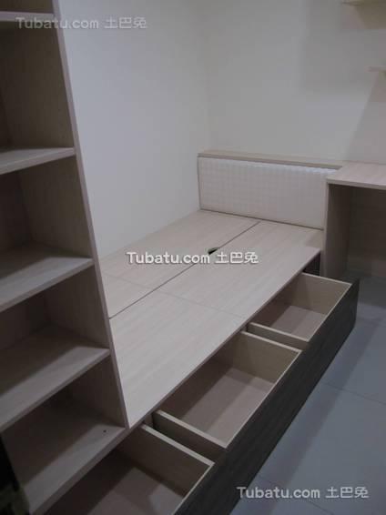 简约卧室收纳组合床设计