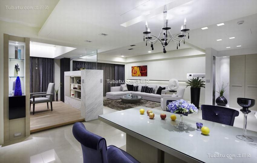 现代风格一居吧台装饰设计图片